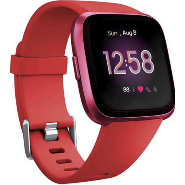 Merk 123watches Fitbit versa sport band - rood