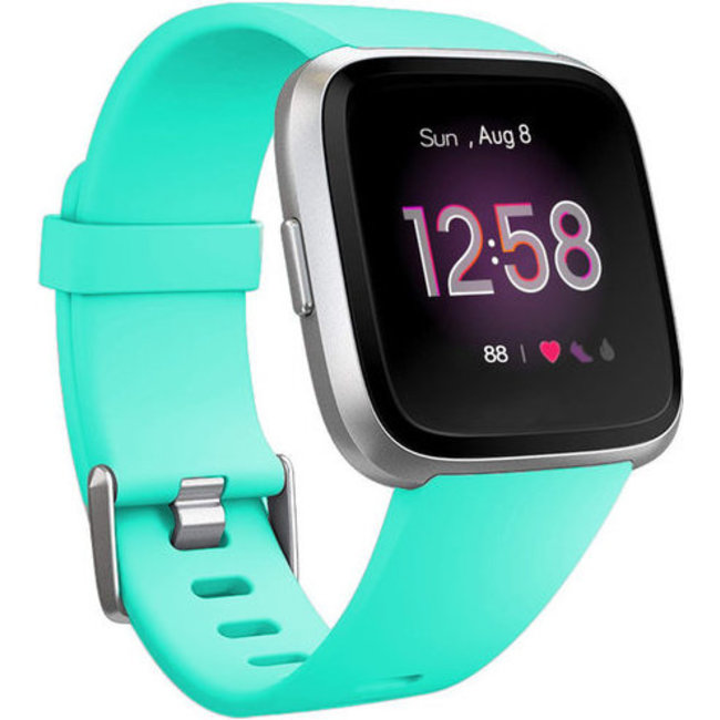 Merk 123watches Fitbit versa sport band - blauw meer