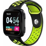 123Watches Fitbit versa double sport band - black green