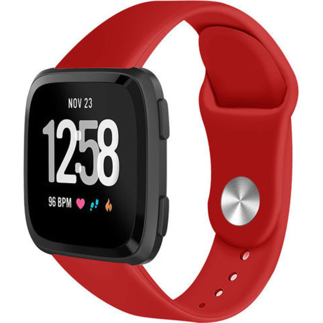 123Watches Fitbit versa silicone band - rood