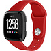 Merk 123watches Fitbit versa silicone band - rood