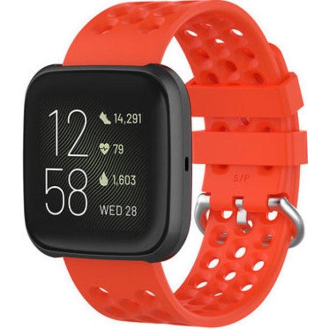 Merk 123watches Fitbit Versa sport point band - rood