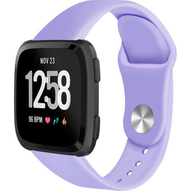 Merk 123watches Fitbit versa silicone band - licht paars