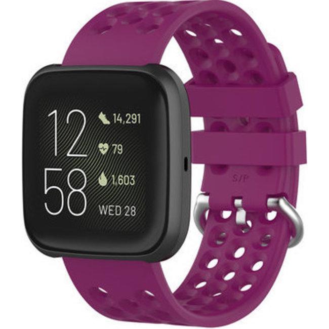 Merk 123watches Fitbit Versa sport point band - paars