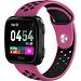 Merk 123watches Fitbit versa dubbel sport band - paars zwart