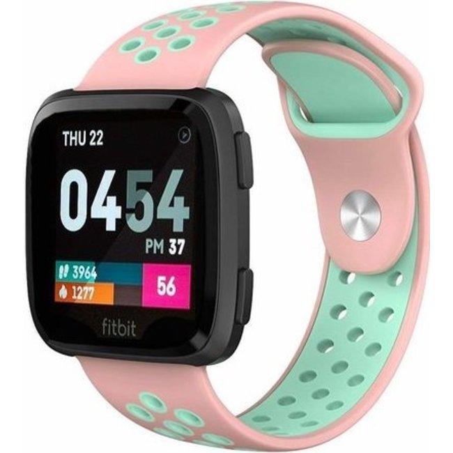 Fitbit versa double sport band - pink light blue