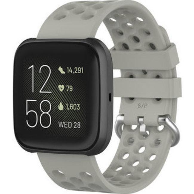 Merk 123watches Fitbit Versa sport point band - grijs