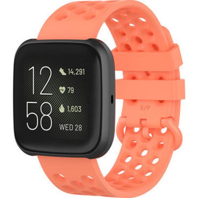 123Watches Fitbit Versa sport point band - oranje