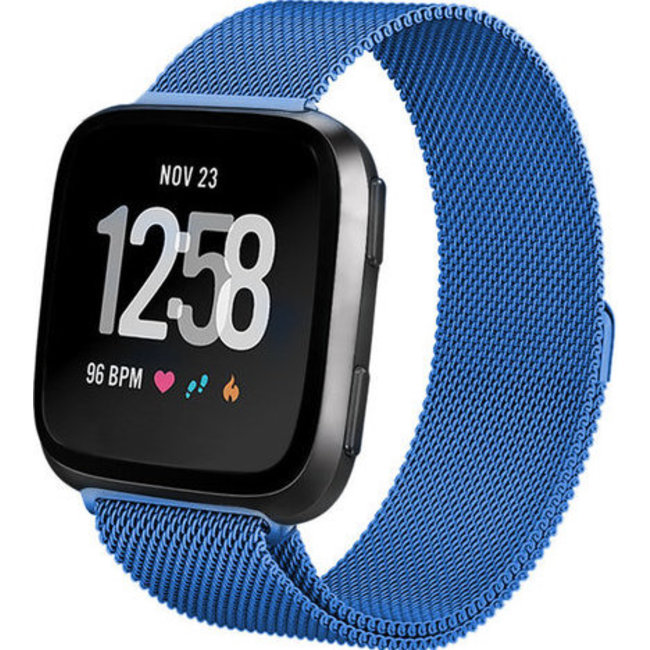 123Watches Fitbit versa milanese band - blauw