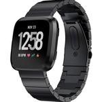 123Watches Fitbit versa steel link band - black