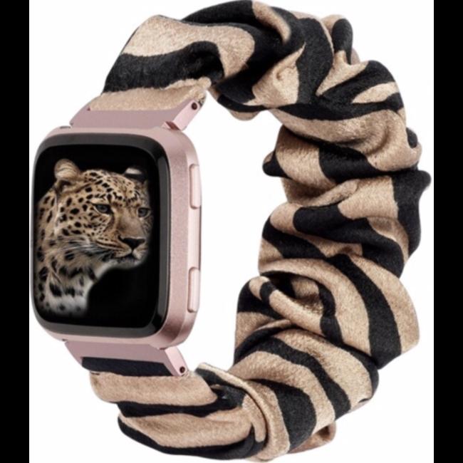 Fitbit Versa scrunchie band - zebra