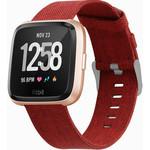 123Watches Fitbit versa nylon gesp band - red