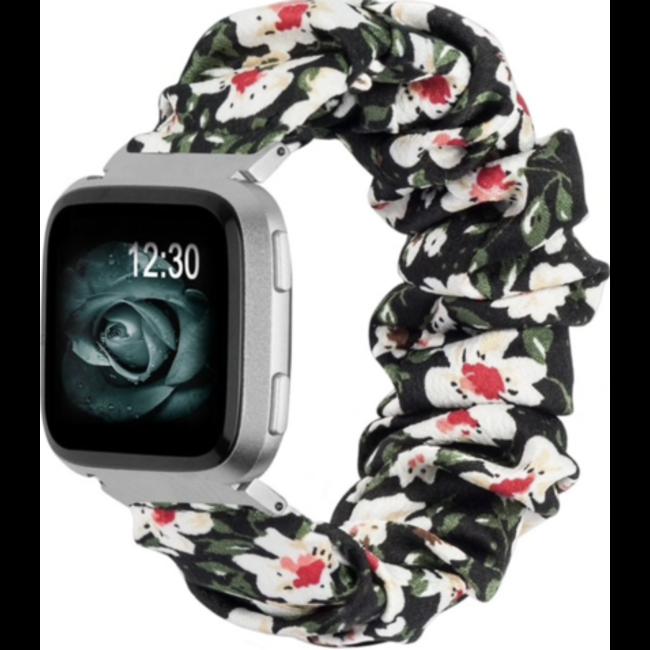 Fitbit Versa scrunchie band - bloemen