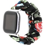 123Watches Fitbit Versa scrunchie band - roses mix