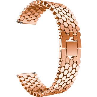 Merk 123watches Samsung Galaxy Watch vis stalen schakel band - rose goud