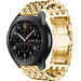 Merk 123watches Samsung Galaxy Watch draak stalen schakel band - goud