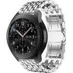 123Watches Samsung Galaxy Watch dragon steel band band - silver
