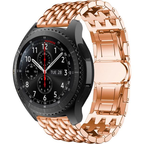 123Watches Samsung Galaxy Watch draak stalen schakel band - rose goud