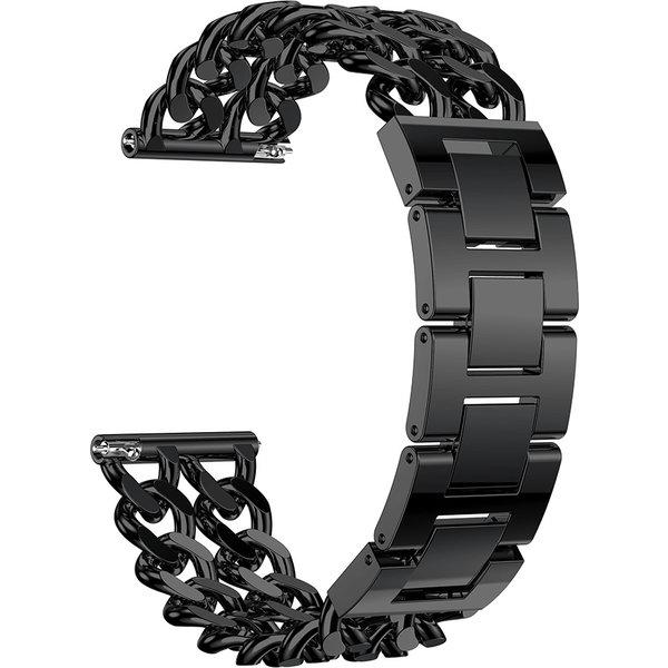 123Watches Samsung Galaxy Watch cowboy stalen schakel band - zwart
