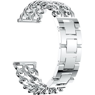 Merk 123watches Samsung Galaxy Watch cowboy stalen schakel band - zilver