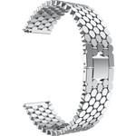 123Watches Garmin Vivoactive vis stalen schakel band - zilver
