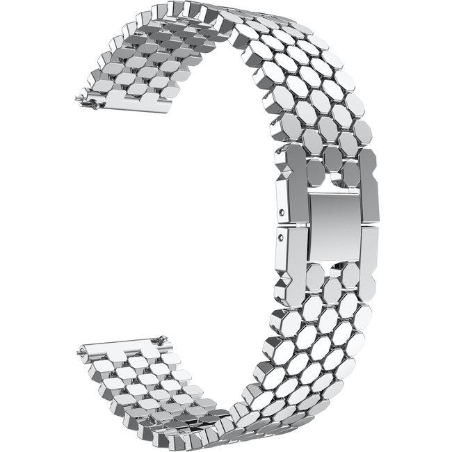 Garmin Vivoactive vis stalen schakel band - zilver