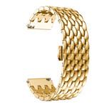 123Watches Garmin Vivoactive draak stalen schakel band - goud