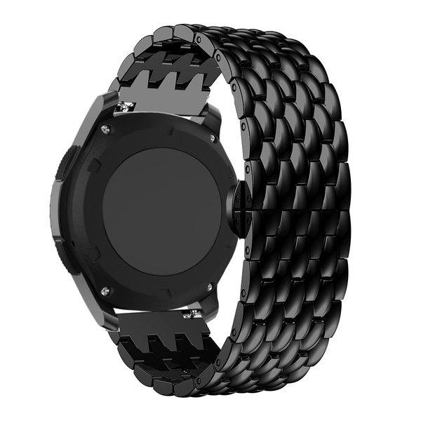 123Watches Garmin Vivoactive draak stalen schakel band - zwart