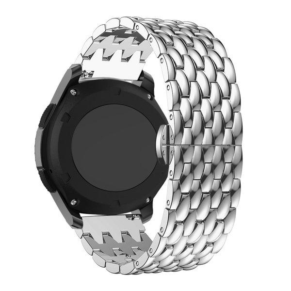 123Watches Garmin Vivoactive draak stalen schakel band - zilver