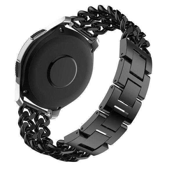 123Watches Huawei GT cowboy stalen schakel band - zwart