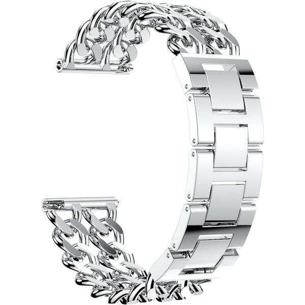 123Watches Huawei GT cowboy stalen schakel band - zilver