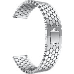 123Watches Polar Vantage M / Grit X vis stalen schakel band - zilver