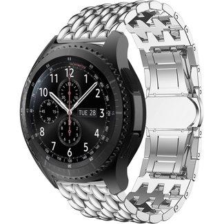 Merk 123watches Polar Vantage M / Grit X draak stalen schakel band - zilver