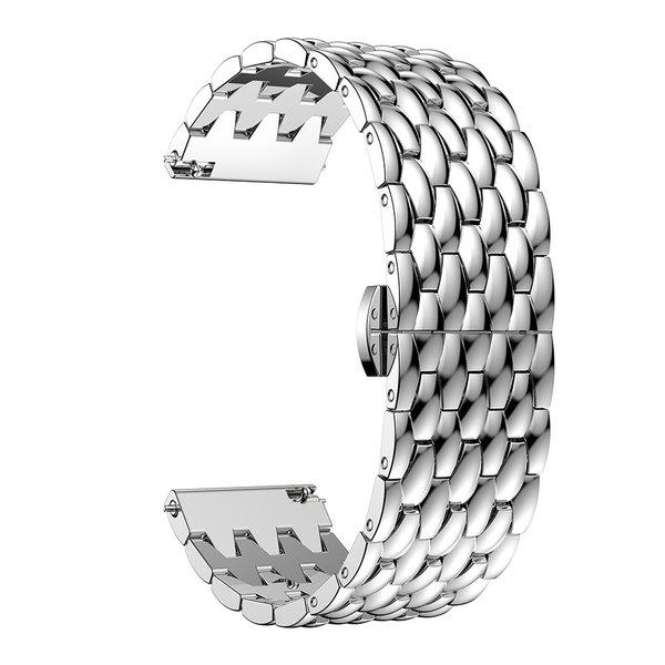 123Watches Polar Vantage M / Grit X draak stalen schakel band - zilver