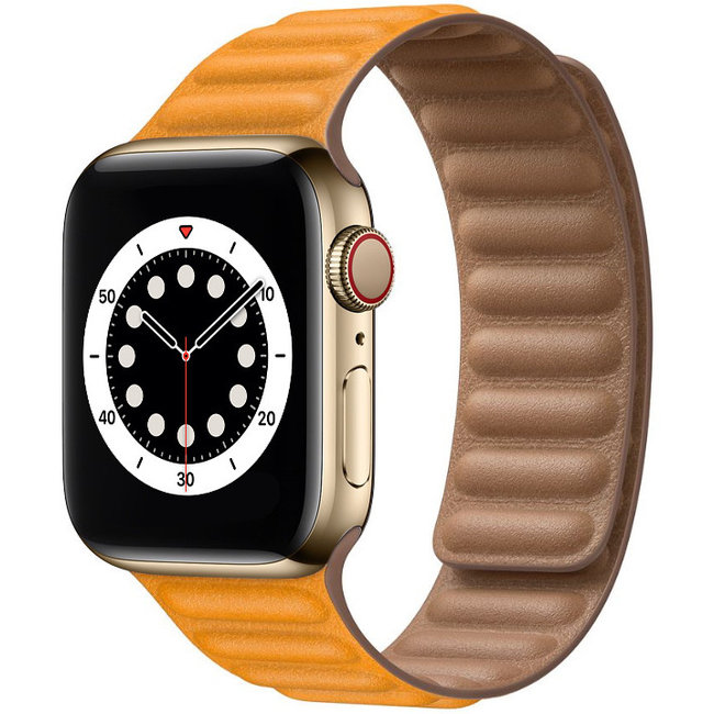 Merk 123watches Apple watch PU leather solo band - california
