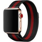 123Watches Apple watch milanese band - zwart rood gestreept