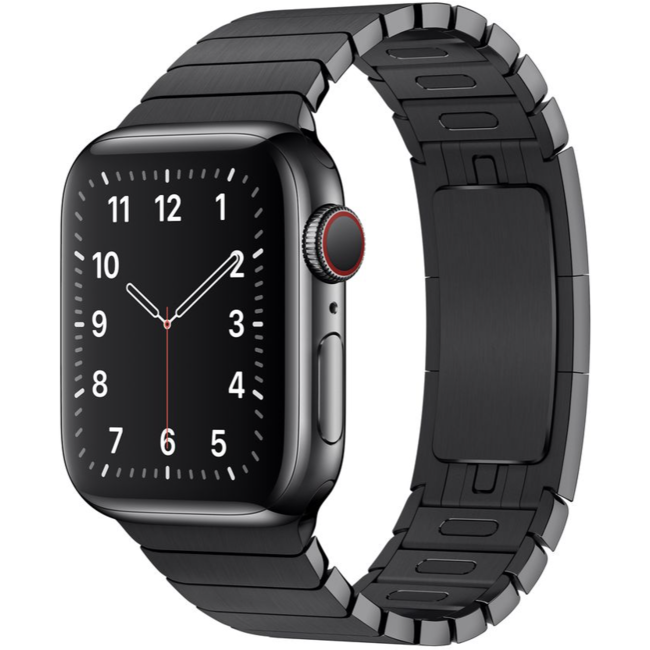 123Watches Apple watch steel link band - black