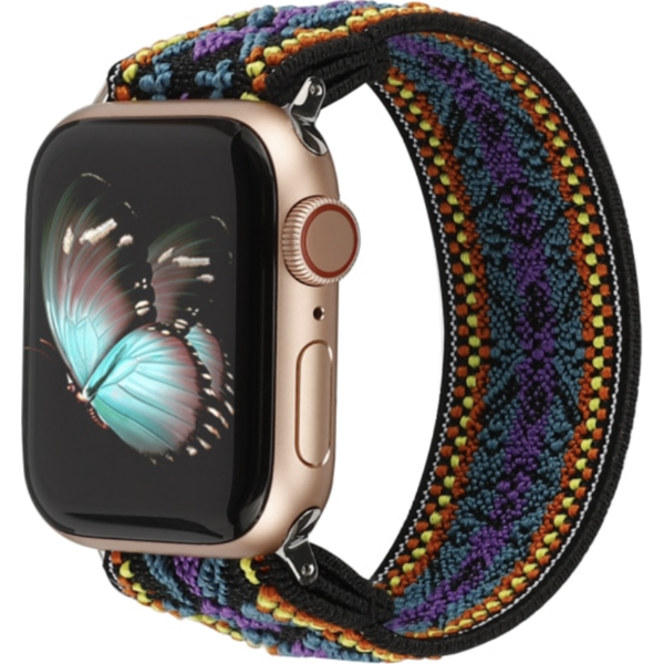 123Watches Apple watch nylon band - bohemian paars