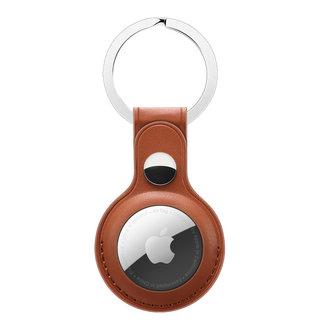 Merk 123watches AirTag PU leren sleutelhanger - bruin