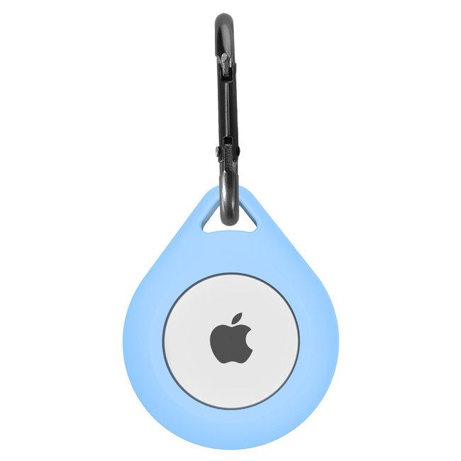 Merk 123watches AirTag silicone druppel sleutelhanger - licht blauw