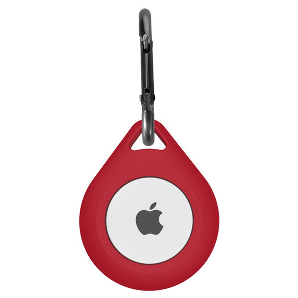 123Watches AirTag silicone drop key ring - wine red