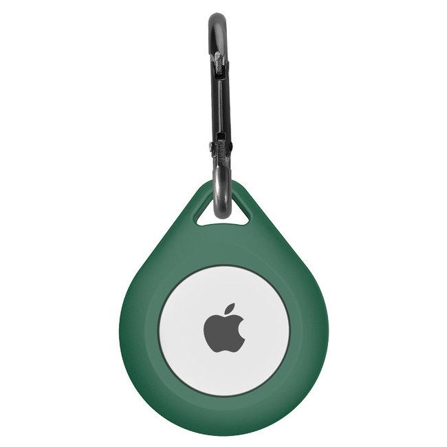 AirTag silicone drop key ring - green