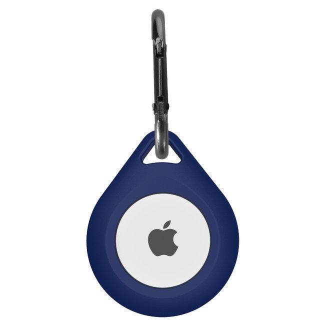 Merk 123watches AirTag silicone druppel sleutelhanger - blauw