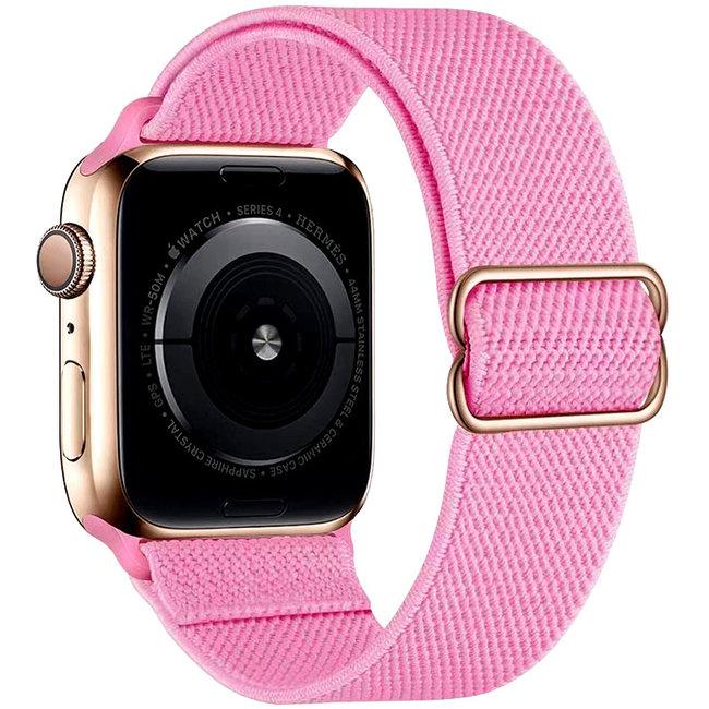 Apple watch nylon solo loop band - roze