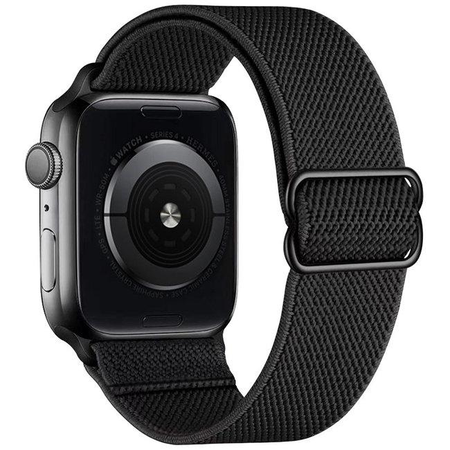 Apple watch nylon solo loop band - zwart