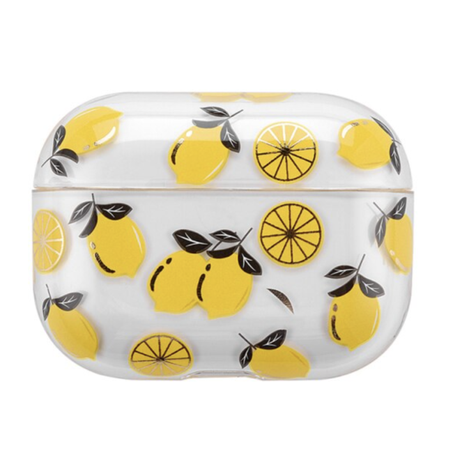 Apple AirPods PRO transparant fun hard case - lemon