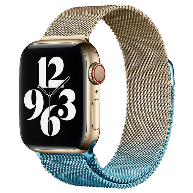 Apple watch milanese band - champagne blue