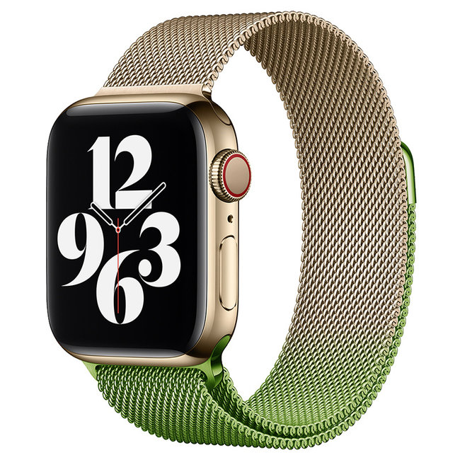 Apple watch milanese band - champagne green