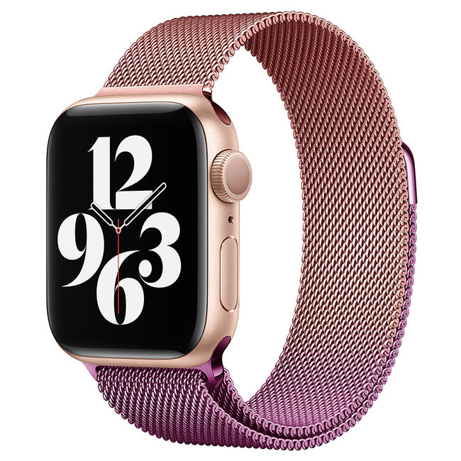 Apple watch milanese band - rose red purple