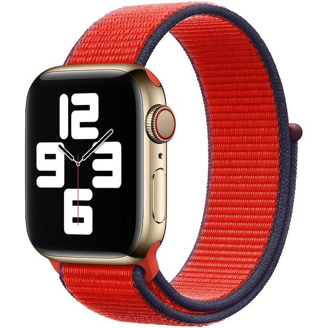 Apple watch nylon sport loop band - tricolor red